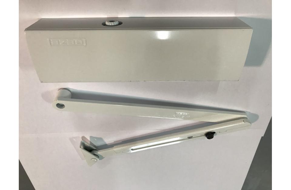 TCP090_CP91N Ferme porte à bras de compas + Plaque fixation porte compas noir  Technal pièce détachée